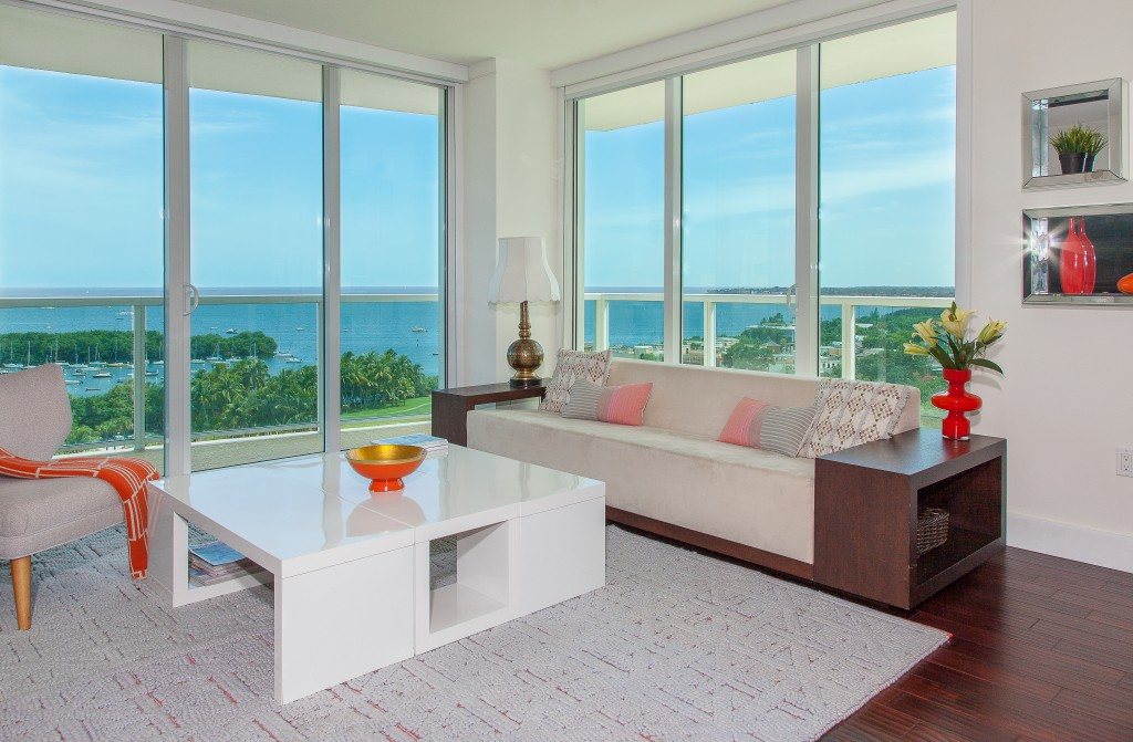2BR/2.5BA Bay and IslandsViews! Hotel Aria Coc. Grove. Miami. FREE PARKING.