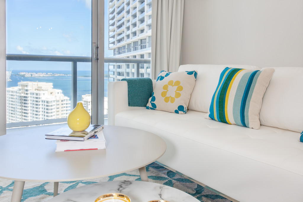 Bay and City Views From Icon Brickell Apartment, Miami. Free Wi-Fi, SPA