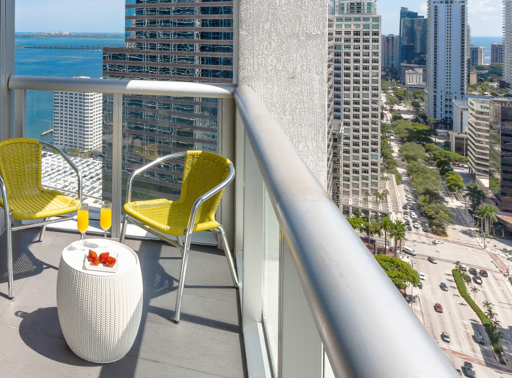 Unobstructed Bay Views from Corner Apartment at W Hotel Residences, Brickell, Miami