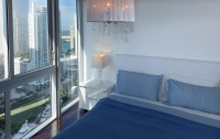 Great View of Key Biscayne & Miami River From Corner Apartment at Icon Residences, Miami
