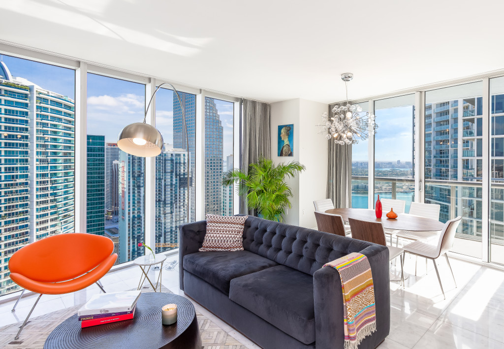 45 Floor, Great River & Sea View From Corner Condo Above W Residences, Brickell, Miami