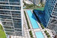 Bay & City Views from 35th Floor at W Residences, Brickell, Miami. Free SPA, Pool, Sauna