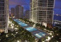 Bay, Pool and City Views from 35th Floor at W Residences, Brickell, Miami. Free SPA, Pool, Sauna, Wi-Fi