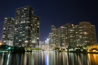 Great View of Key Biscayne & Miami River From Corner Apartment at W Residences, Miami